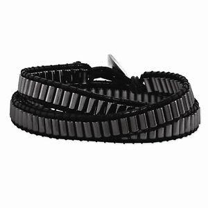 【送料無料】ブレスレット アクセサリ― ヘマタイトビーズマルチラップブレスレットhematite beaded and leather multiwrap bracelet