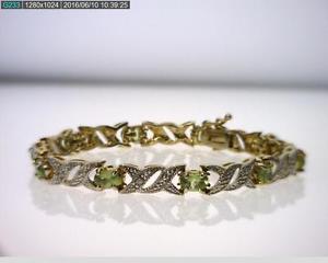 【送料無料】ブレスレット アクセサリ― スターリングシルバーペリドットブレスレット listingvermeil over sterling silver 720cttw peridot hugs amp; kisses bracelet b5510