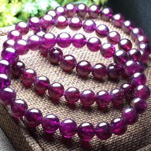 【送料無料】ブレスレット アクセサリ― 75mmビーディッドaaa75mm top quality natural purple garnet crystal beads beaded aaa