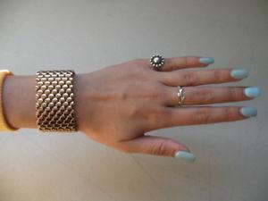【送料無料】ブレスレット アクセサリ― ブロンズmilorイタリアローズ125825メッシュブレスレットqvcbronze milor italy rose tone 125 wide mesh bracelet magnetic closure 825 qvc