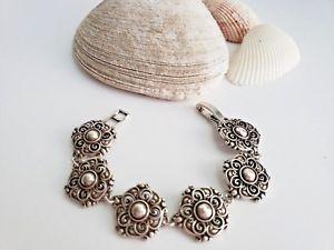 【送料無料】ブレスレット アクセサリ― ブライトンシルバーグレタフラワーリンクブレスレットbrighton silver greta flower link bracelet retired