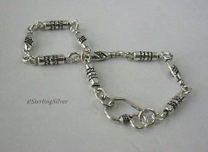 【送料無料】ブレスレット アクセサリ― スターリングシルバーデザイナーブレスレットインチグラム925 sterling silver designer bracelet 75 inches, 109 grams, 42mm width