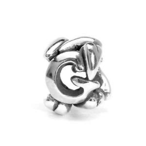【送料無料】ブレスレット アクセサリ― パールシルバーtrollbeads pearl silver initial letter g tagbe 10066
