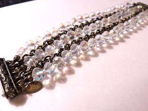 【送料無料】ブレスレット アクセサリ― エンハンサーブレスレットクリアkirks folly clear magnetic enhancer bracelet nwot