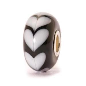 【送料無料】ブレスレット アクセサリ― オリジナルビーズホワイトハートガラスtrollbeads original beads white heart glass tglbe 10251
