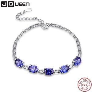 【送料無料】ブレスレット アクセサリ― シルバーブレスレットタンザナイトjqueen wedding 925 silver bracelet tanzanite jewelry high quality blue stone