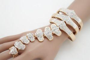 【送料無料】ブレスレット アクセサリ― メタルハンドチェーンファッションジュエリースケルトンホットwomen gold metal hand chain fashion jewelry skeleton skull bones spine bling hot