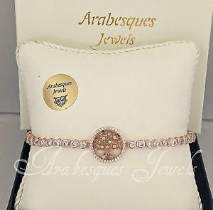 【送料無料】ブレスレット アクセサリ― アラベスクテニスブレスレットローズゴールドスターリングシルバーツリーarabesques genuine 9ct rose gold on sterling silver tree of life tennis bracelet