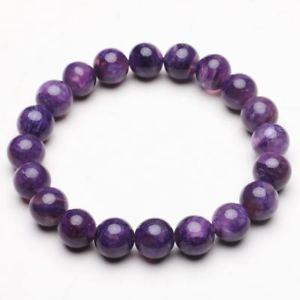 【送料無料】ブレスレット アクセサリ― クリスタルビーズブレスレットストレッチ93mm natural purple charoite crystal gemstone stretch beads bracelet zlbb033