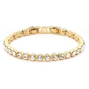 【送料無料】ブレスレット アクセサリ― スワロフスキーテニスブレスレット16kgptennis bracelet with swarovski crystals clear 16k gp bridal wedding mum sister