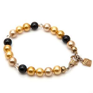 【送料無料】ブレスレット アクセサリ― マルチカラーサウスシーシェルブレスレットストランド multicolour south sea shell pearls bracelet gold plated single strand