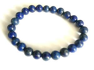 【送料無料】ブレスレット アクセサリ― ラピスラズリビーズストレッチブレスレットlapis lazuli polished beads stretch bracelet