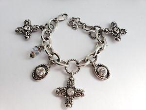 【送料無料】ブレスレット アクセサリ― brightonglimmercrossスワロフスキーチャームシルバーブレスレットbrighton glimmer cross swarovski crystal charm silver bracelet