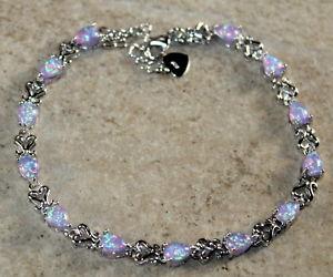 【送料無料】ブレスレット アクセサリ― ファイアーオパールブレスレットジュエリーsilver elegant purple fire opal teardrop bracelet jewelry woman gift
