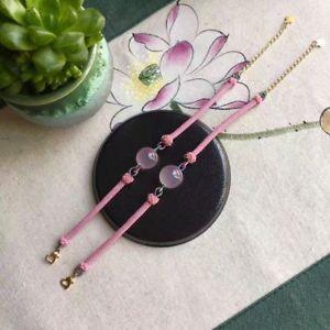 【送料無料】ブレスレット アクセサリ― ローズコーツブレスレットaaaa 1415mmnatural star rose quartz crystal bracelet nice handmade bracelets aaaa 1415mm