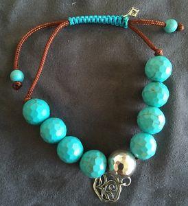 【送料無料】ブレスレット アクセサリ― silpadaマグネサイトコードブレスレットb2810silpada magnesite brown cord adjustable bracelet b2810 turquoise blue