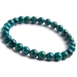 【送料無料】ブレスレット アクセサリ― ナチュラルマラカイトラウンドビーズブレスレット100 natural green malachite gemstone chrysocolla round beads bracelet 7mm aaaa