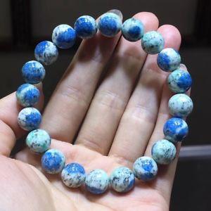 【送料無料】ブレスレット アクセサリ― ラウンドビーズブレスレットnatural k2 volcanic azurite stone gemstone round beads bracelet 10mm aaa