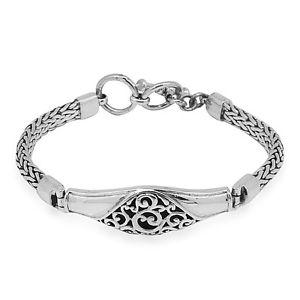 【送料無料】ブレスレット アクセサリ― デザイナーソリッドスターリングシルバーバリチェーンブレスレットインチdesigner solid 925 sterling silver bali chain bracelet 775 inch 25 gms