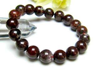 【送料無料】ブレスレット アクセサリ― レッドガーデンラウンドビーズブレスレット115mm rare natural red garden quartz crystal round beads bracelet gift bl3061
