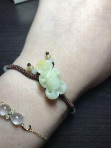 【送料無料】ブレスレット アクセサリ― ビーズブレスレットcertified jade jadeite lotus flower and beads adjustable woven bracelet