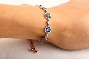 【送料無料】ブレスレット アクセサリ― トルコナザルスターリングシルバーテニスブレスレットprotect turkish jewelry nazar 6 evil eye 925 sterling silver tennis bracelet