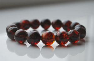 【送料無料】ブレスレット アクセサリ― ラウンドバルトビーズブレスレットグラムround baltic amber beads bracelet 19 gr