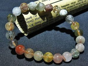 【送料無料】ブレスレット アクセサリ― ゴールデンルチルラウンドビーズブレスレット8mm 3a natural golden rutilated quartz round beads bracelet gift bl3246