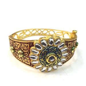 【送料無料】ブレスレット アクセサリ― ハンドメイドブレスレットkundan high quality handmade meenakari bracelet bo62120