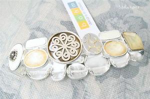 【送料無料】ブレスレット アクセサリ― デザイナーbohmパネルブレスレットcity chicホワイトスワロフスキーbnwt rrp40designer bohm panel bracelet city chic silverwhitegrey swarovski bnwt rrp4