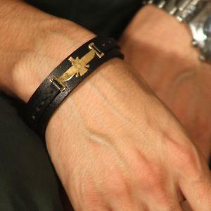 【送料無料】ブレスレット アクセサリ― ブレスレットレザーブレスレットコレクションアートギャラリーfarvahar bracelet,gold plated leather bracelet, persis collection art gallery