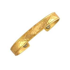 【送料無料】ブレスレット アクセサリ― セルジオlubカフスブレスレットsergio lub magnetic hammered brass cuff bracelet large
