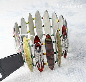 【送料無料】ブレスレット アクセサリ― ヴィンテージアンダーセンpilgrimブレスレットafro funkbnwtvintage andersen pilgrim wide bracelet afro funk silverred tribal art bnwt