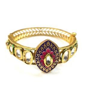 【送料無料】ブレスレット アクセサリ― kundanmeenakariブレスレットmt04857kundan high quality handmade meenakari bracelet mt04857