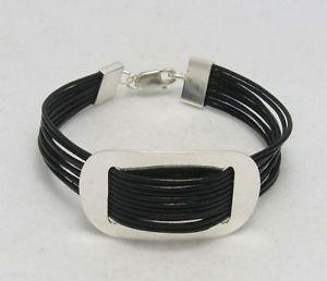 【送料無料】ブレスレット アクセサリ― スターリングリゾーツスターリングシルバーブレスレットsterling silver bracelet ellipse 925 natural leather b000001