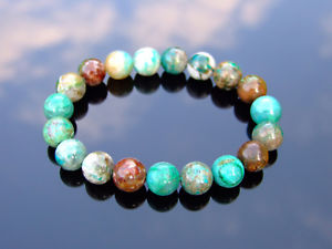 【送料無料】ブレスレット アクセサリ― フェニックスブレスレットヒーリングphoenix chrysocolla 10mm natural gemstone bracelet 69 elasticated healing