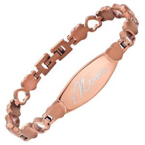 【送料無料】ブレスレット アクセサリ― レディーストーンチタニウムブレスレットウィリスジャッドladies love heart two tone titanium bracelet engraved mum by willis judd