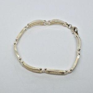 【送料無料】ブレスレット アクセサリ― ソリッドシルバーブレスレットデザインsolid sliver bracelet, nice design