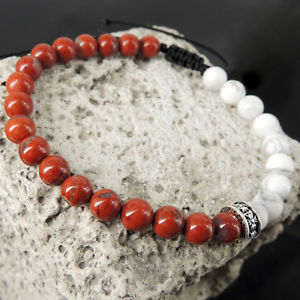 【送料無料】ブレスレット アクセサリ― クロブレスレットジャスパーamp;sacred cross silver adjustable bracelet braided red jasper amp;