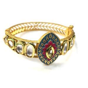 【送料無料】ブレスレット アクセサリ― ハンドメイドブレスレットkundan high quality handmade meenakari bracelet eo53006