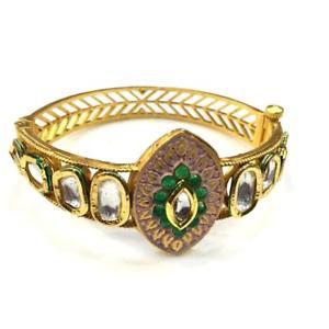 【送料無料】ブレスレット アクセサリ― kundanmeenakariブレスレットyy75998kundan high quality handmade meenakari bracelet yy75998