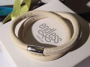 【送料無料】ブレスレット アクセサリ― ヌードブレスレットシルバークラスプendless jewelry 38cm nude bracelet double strand silver clasp rrp 50