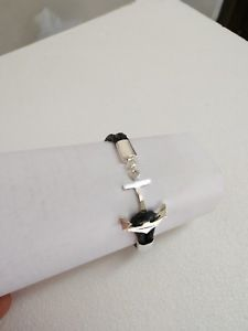 【送料無料】ブレスレット アクセサリ― sterlinganchor leather bracelet875mens75womens ̄sterling silver anchor leather bracelet 875 mens or 75 womens~