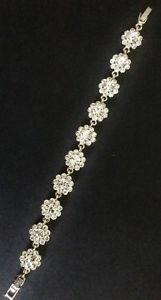 【送料無料】ブレスレット アクセサリ― クリスタルフラワースワロフスキーロンドンジェミニクリアブレスレットclear crystal flower swarovski bracelet by gemini of london