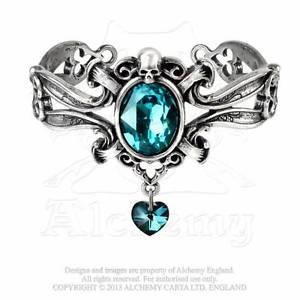 【送料無料】ブレスレット アクセサリ― ゴシックブレスレットピューターalchemy gothic the dogaressas last love bracelet pewter blue crystal a104