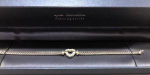 【送料無料】ブレスレット アクセサリ― giaフィオレラスターリングcz nibgia fiorella beautiful sterling silver bracelet and cz heart nib