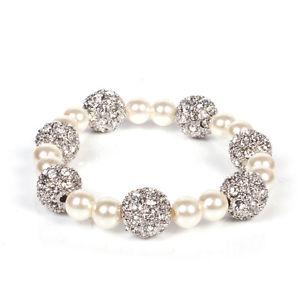 【送料無料】ブレスレット アクセサリ― ロンドンパールクリスタルボールストレッチブレスレットレディースブランドファッションmikey london pearl amp; crystal ball stretch bracelet, ladies, brand fashion