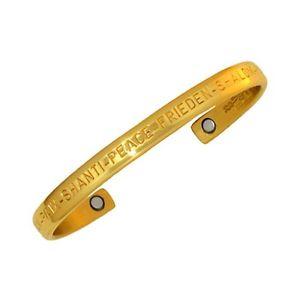 【送料無料】ブレスレット アクセサリ― セルジオブラスカフブレスレットsergio lub magnetic brass cuff bracelet peace brass medium