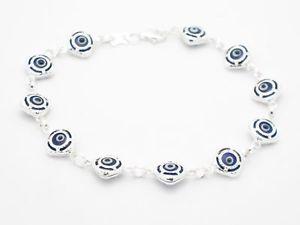 【送料無料】ブレスレット アクセサリ― platinumevil eye kabbalah hamsa charm braceletplatinum silver evil eye kabbalah hamsa charm bracelet