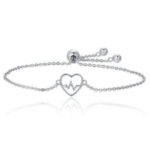 【送料無料】ブレスレット アクセサリ― 5xq3a6ブレスレット925スターリングecg5x925 sterling silver ecg of love heart adjustable bracelet for women q3a6
